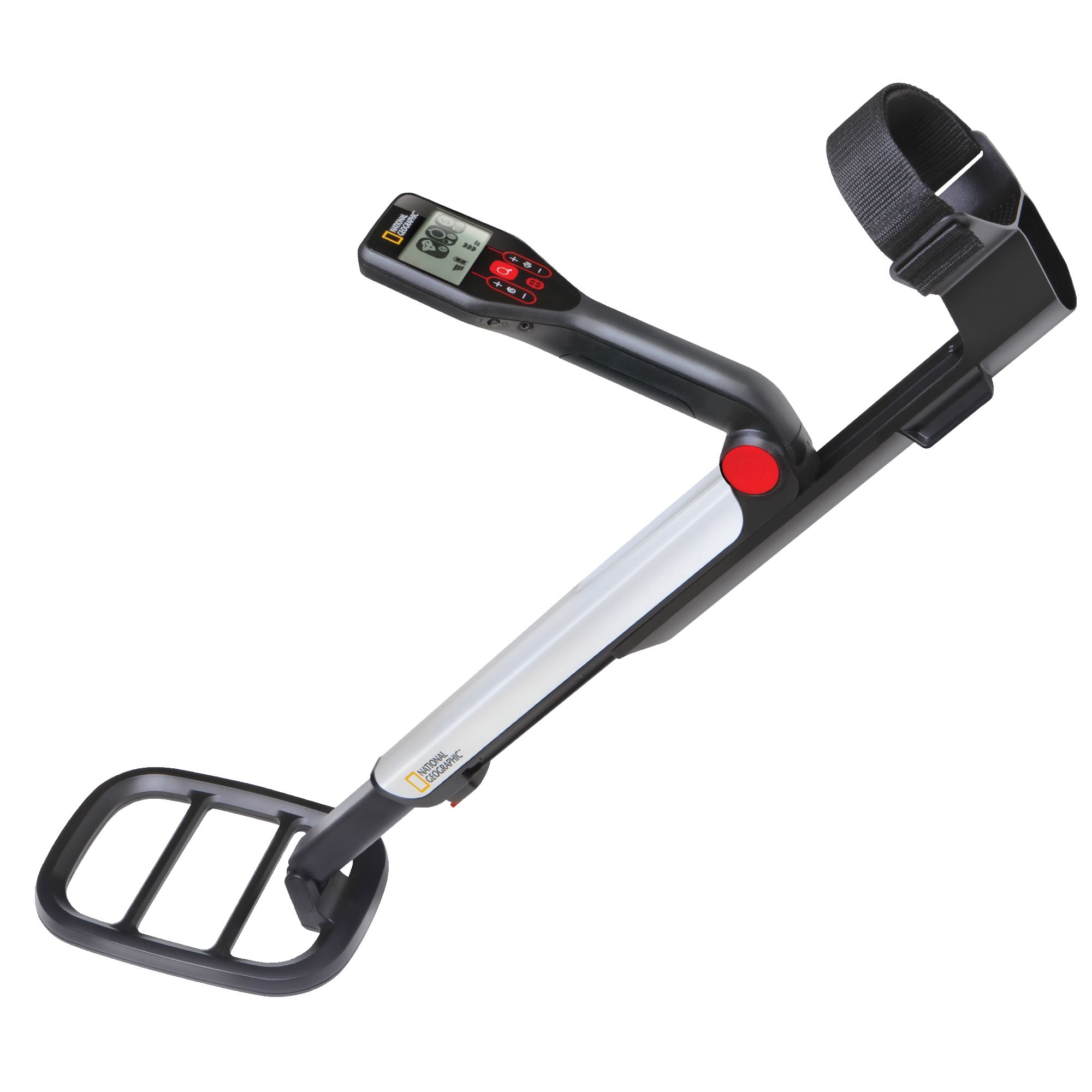 NATIONAL GEOGRAPHIC PRO Series Metal Detector - Ultimate Treasure Hunter with Pinpointer, Large Waterproof 10'' Coil - Lightweight and Collapsible for easy travel by NATIONAL GEOGRAPHIC