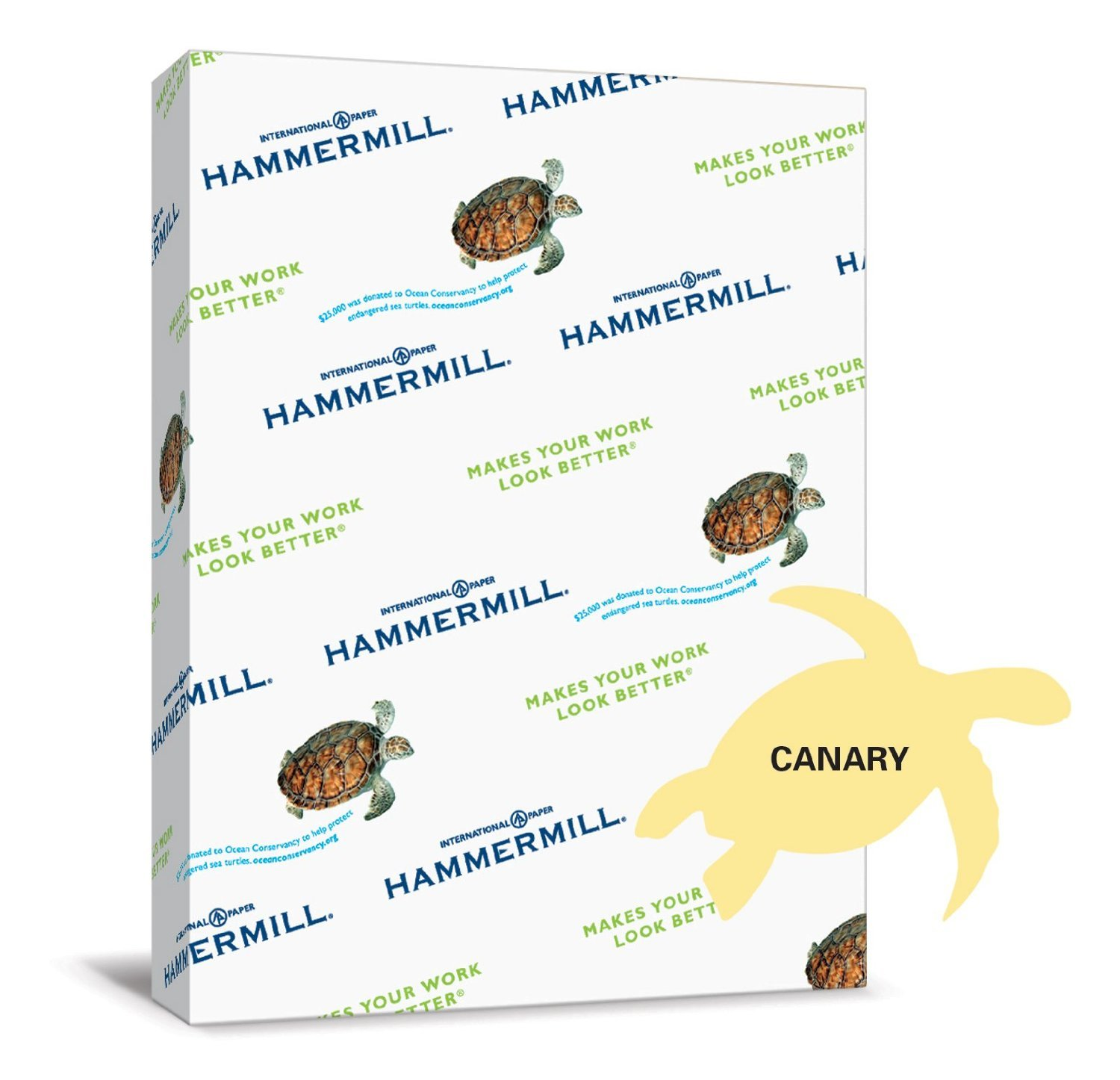 Hammermill Paper Colors pLGSf Canary, 24lb., 8.5x11, Letter 500 Sheets (6 Pack) twsbx by HammtrmKll (Image #1)