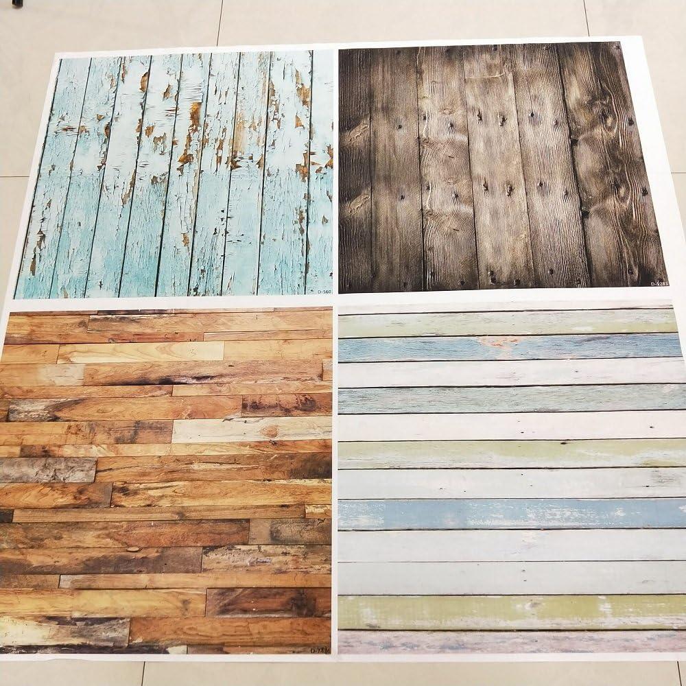 Konpon 0,6/x 0,6/m 4/pares impermeable lienzo material se puede limpiar suelos de madera fondo para estudio de fotograf/ía de tablones de madera tel/ón de fondo fondo de fotograf/ía de accesorios gy-012