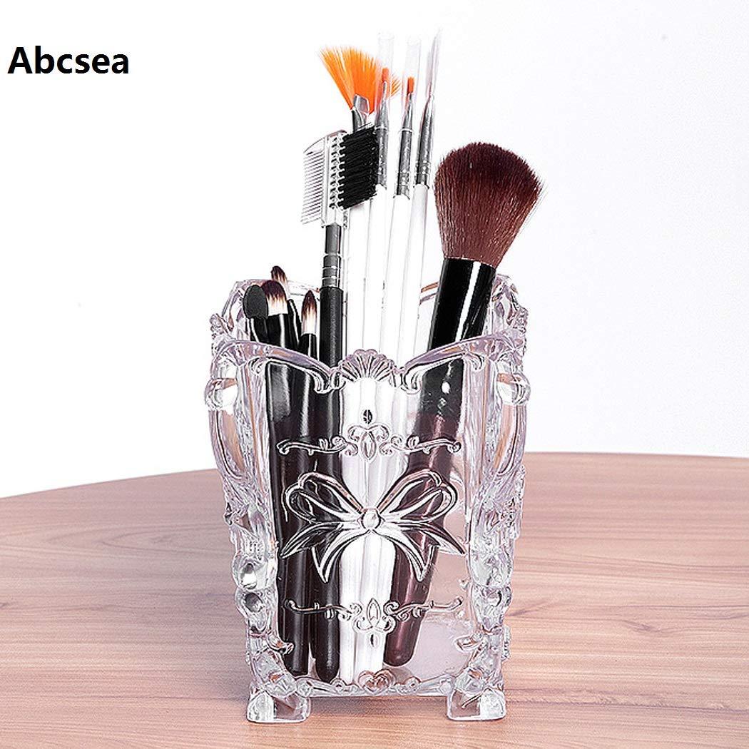Abcsea 1 St/ück lange eleganter Schreibtisch Stifthalter transparenter Make-up-Organizer kosmetischer Organisator acryl transparenter stiftehalter