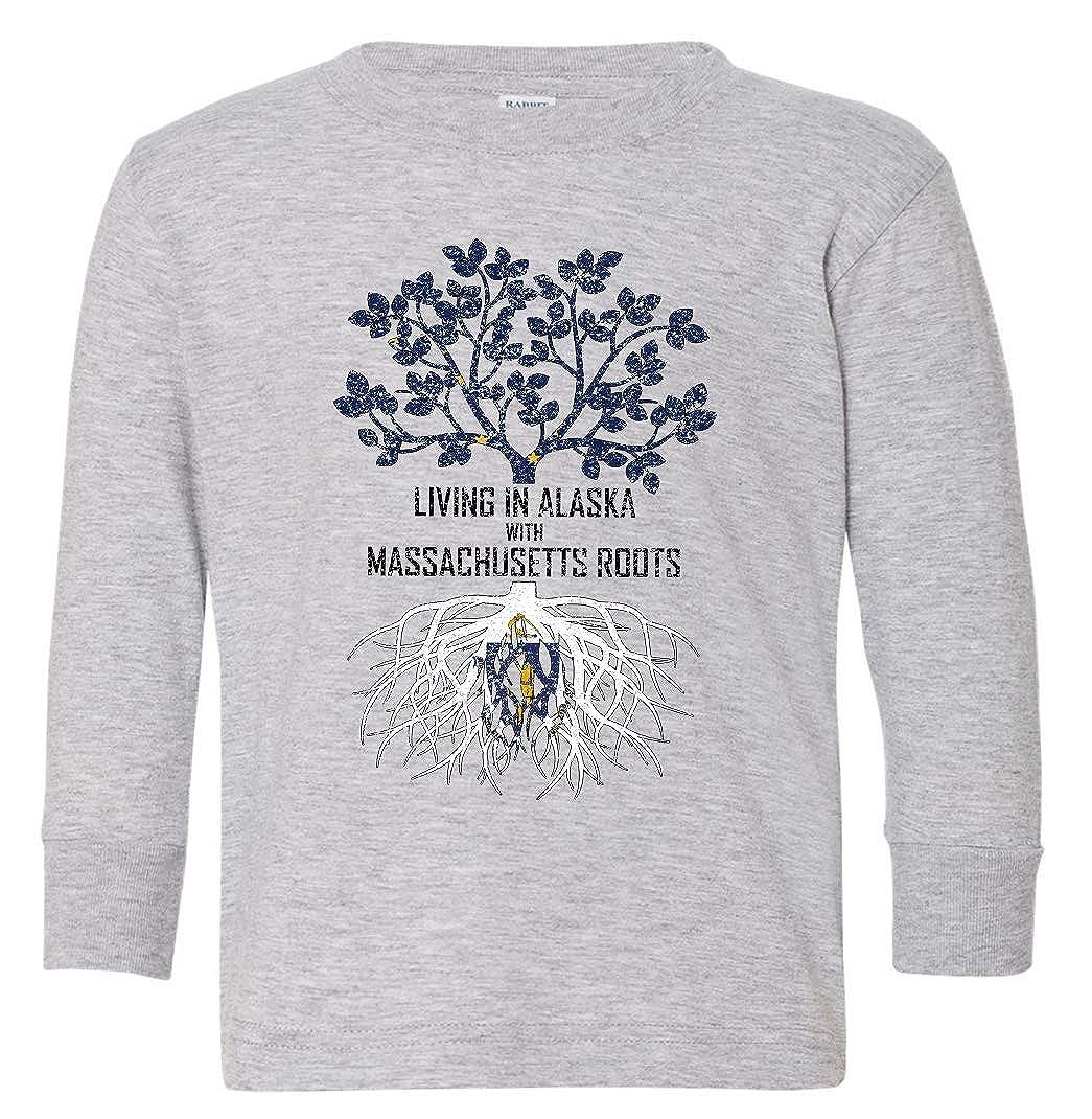 Tenacitee Babys Living in Alaska Massachusetts Roots Shirt