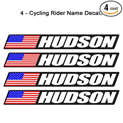 4 piece custom bicycle frame name usa decal sticker set road bike cycling mountain bike