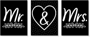 Big Dot of Happiness Mr. and Mrs. - Wedding Wall Art and Bedroom Decor - 7.5 x 10 inches - Set of 3 Prints