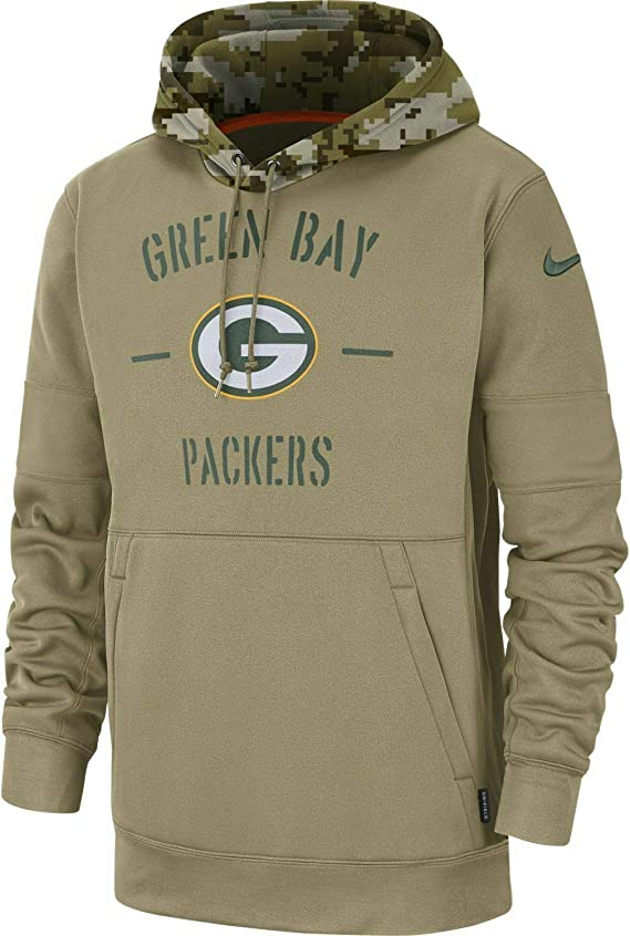 semáforo no usado Aproximación  Nike Green Bay Packers 2019 NFL Salute to Service - Sudadera con capucha  (talla XL): Amazon.com.mx: Deportes y Aire Libre