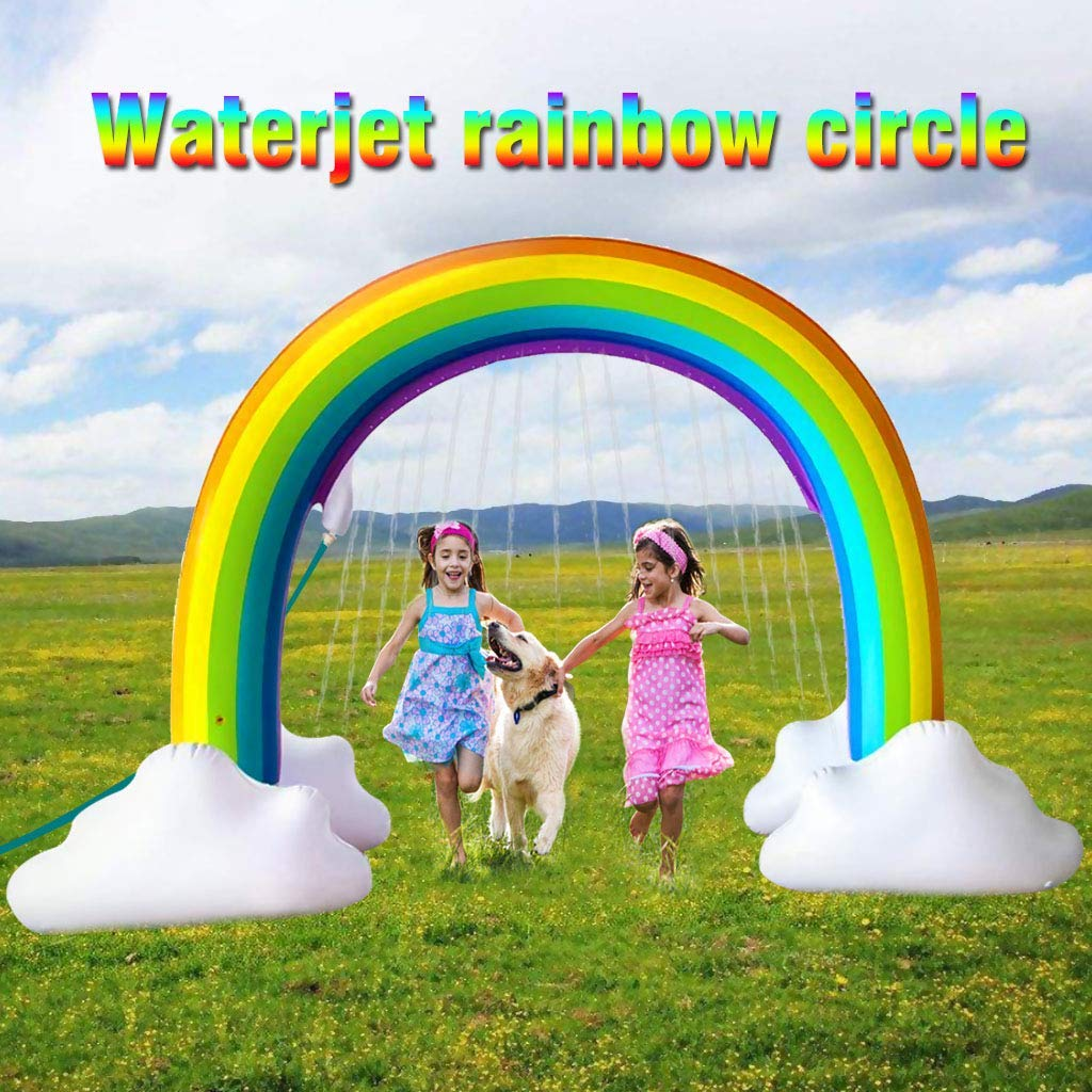Gayisic Rainbow Sprinkler Inflatable Pools Summer Fun Outside Backyard Family Water/Birthday Party Toy for Children Infants Toddlers,Boys, Girls and Kids by Gayisic