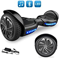 GeekMe 6.5 inch Hoverboard Electric Scooter Smart Self Balancing Scooter Built-in Bluetooth Speaker Flashing LED lights For Kids and Adult
