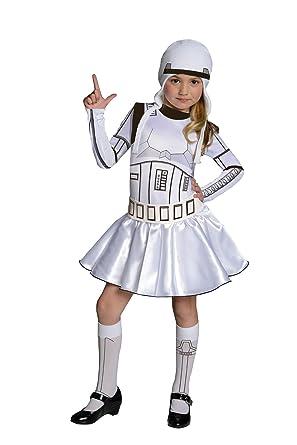 Amazon.com: Star Wars Storm Trooper Vestido Disfraz, Blanco ...