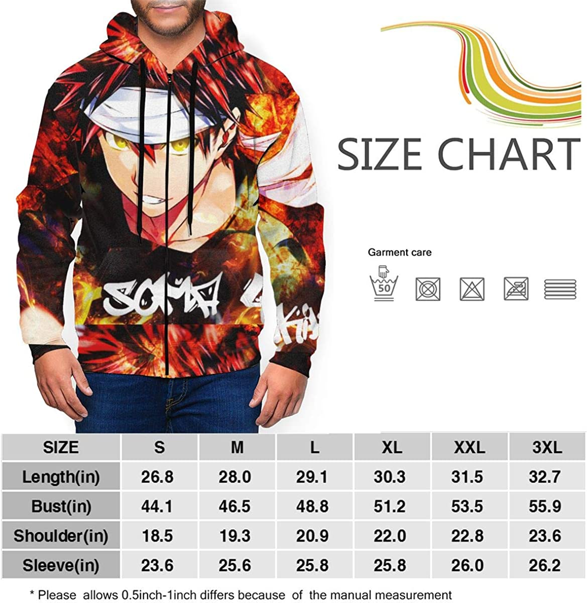 GASDFEFSD Mens Fashion Daily Full-Zip Cool Printed Polyester Hoodie Sweater Coat