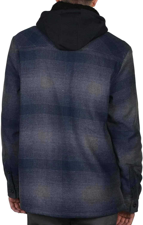 9 Crowns Essentials Sherpa Lined Plaid Flannel Hoodie Jacket
