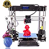 3D-Drucker, ColorFish A8 Prusa i3 MK8 Extruder Hochpräzise Self Assembly 3D Drucker Upgrade Kit, 1.75mm ABS/PLA Drucker Filament (Baugröße 220 × 220 × 240 mm) (A8)