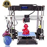 Imprimante 3D, ColorFish A8 Prusa i3 MK8 Extruder Kit De Mise à Niveau De l'imprimante 3D, Filament d'imprimante ABS/PLA 1.75 mm (Dimension Structurelle 220 × 220 × 240 mm)