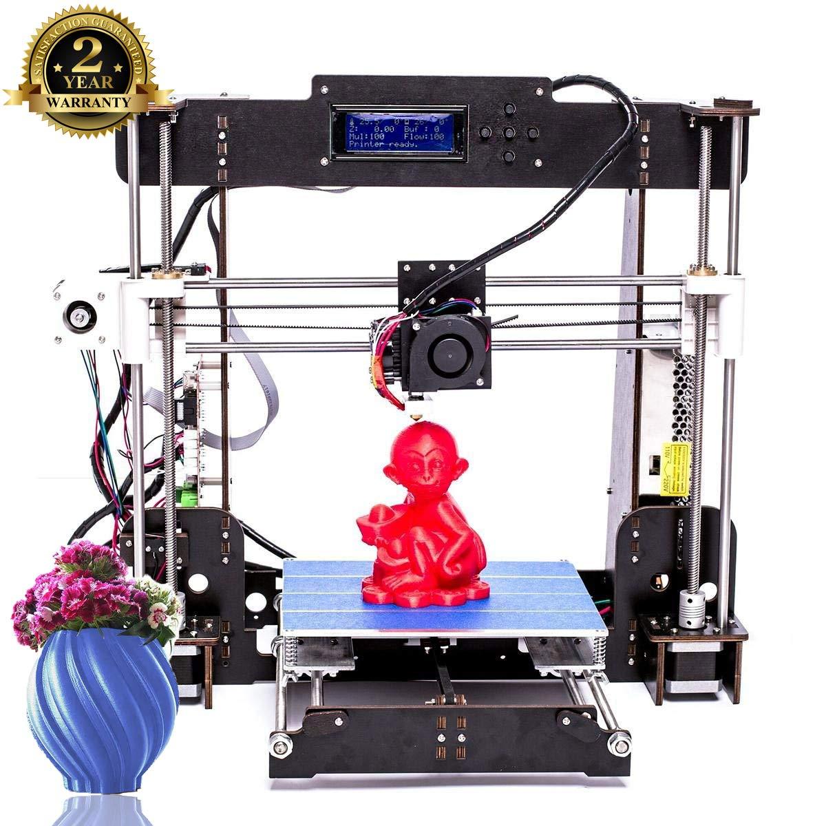 Imprimante 3D, ColorFish A8 Prusa i3 MK8 Extruder Kit De Mise à Niveau De l'imprimante 3D, Filament d'imprimante ABS/PLA 1.75 mm (Dimension Structurelle 220 × 220 × 240 mm) CTC