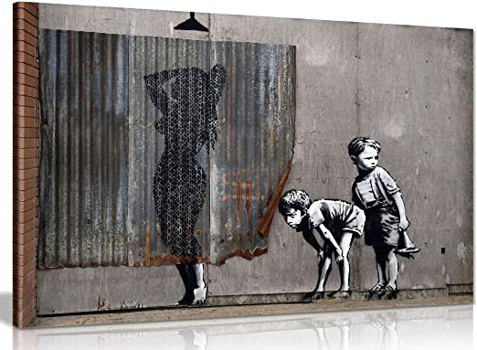 Exposed Kids By Banksy Art Posters Wall Pictures Home Decoration