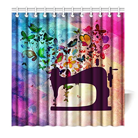 Violetpos Top calidad antimoho para cortina de ducha (Impresión ...