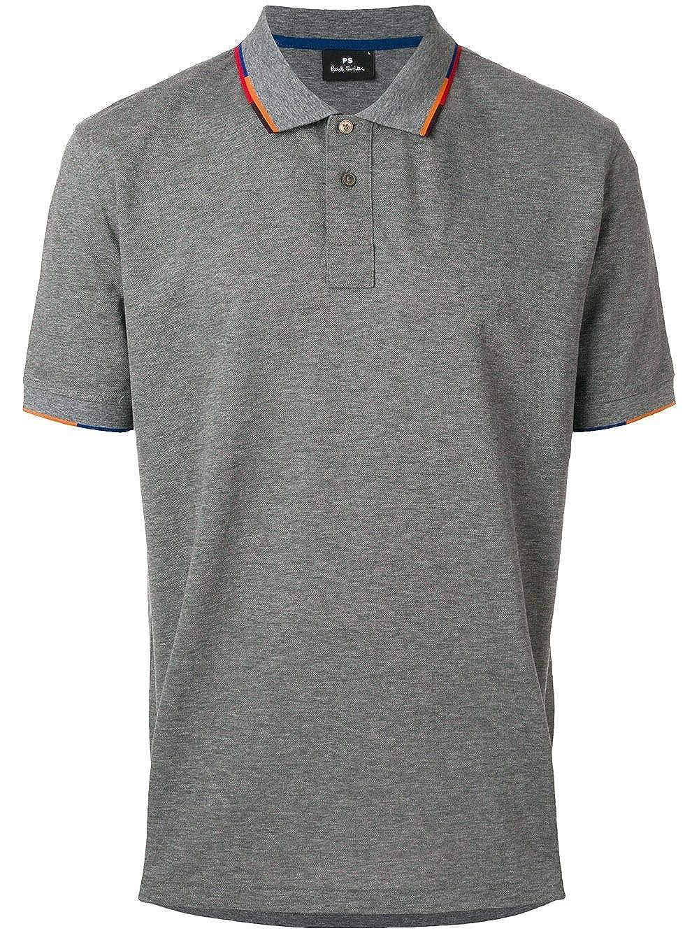 Paul Smith Luxury Fashion Mens Polo Shirt Summer Grey