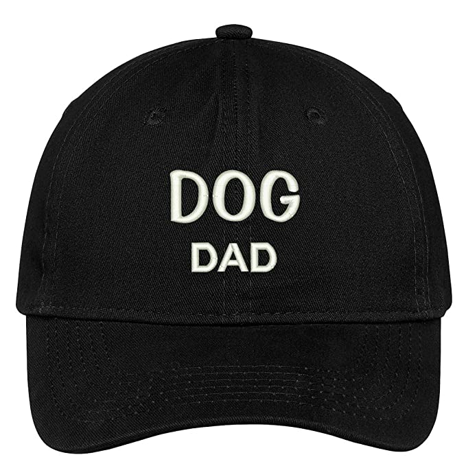 b08dd0e3054 Trendy Apparel Shop Dog Dad Embroidered Low Profile Deluxe Cotton Cap Dad  Hat - Black