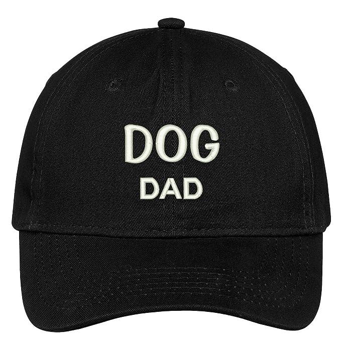b9ba386e205ea Trendy Apparel Shop Dog Dad Embroidered Low Profile Deluxe Cotton Cap Dad  Hat - Black