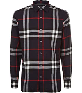 Burberry Check Cotton Poplin Men s Shirt (Small) at Amazon Men s ... e85886db44b