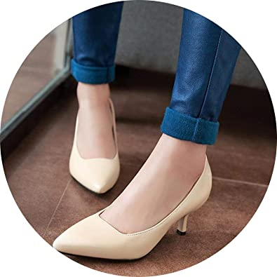 80a2249fcbcc6 FINDYOU New Women Pumps Fashion Pointed Toe Patent Leather High Heels Shoes  Spring Summer Wedding Shoes