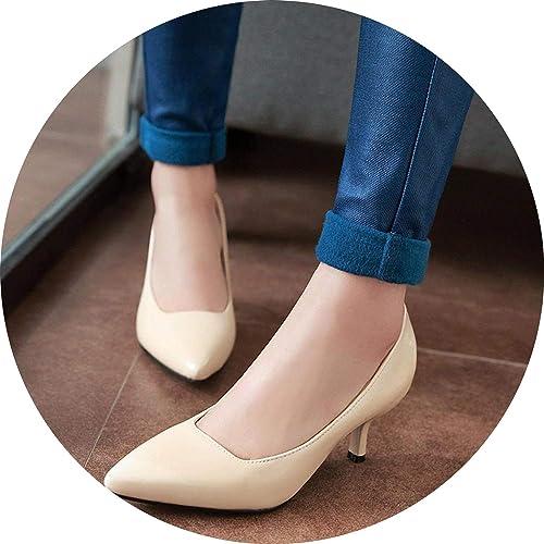 8cb7947679b Amazon.com | FINDYOU New Women Pumps Fashion Pointed Toe Patent ...