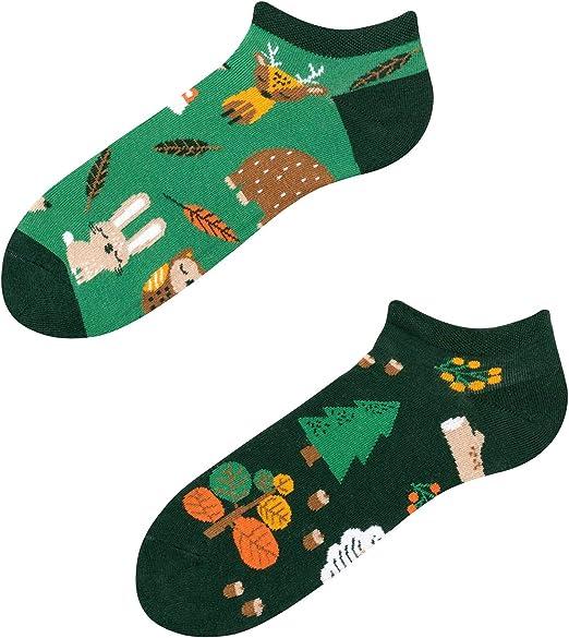 Herren Damen Lustig Socken 3D Aufdruck Zehentrenner Low Cut Knöchel Boot Seja