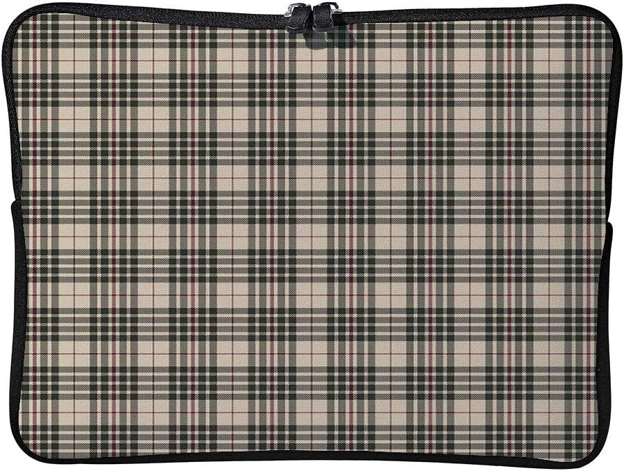 Traditional Tartan Pattern British Laptop Sleeve Case Water-Resistant Protective Cover Portable Computer Carrying Bag Pouch for Laptop AM001866 13 inch//13.3 inch C COABALLA Abstract
