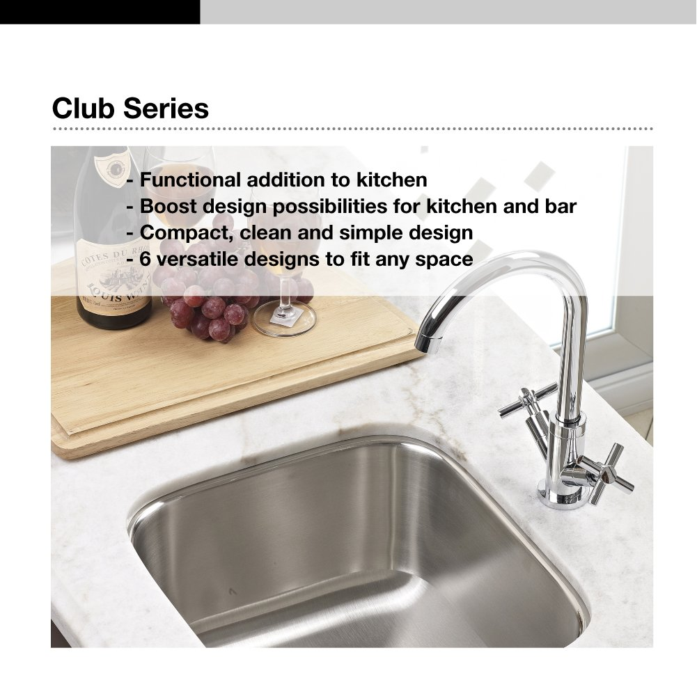Houzer CF-1830-1 Club Series Undermount Round Bar/Prep Sink ...