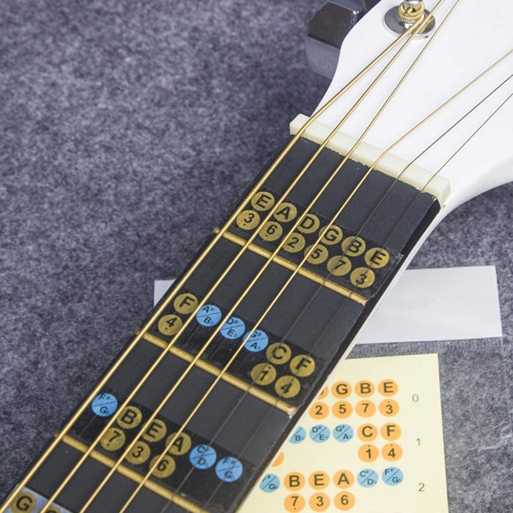 XKSIKjians Guitar Accessorie Electric Fretboard Note Decals Fingerboard Frets Map Sticker Learner Acoustic General Musical Instrument Accessories