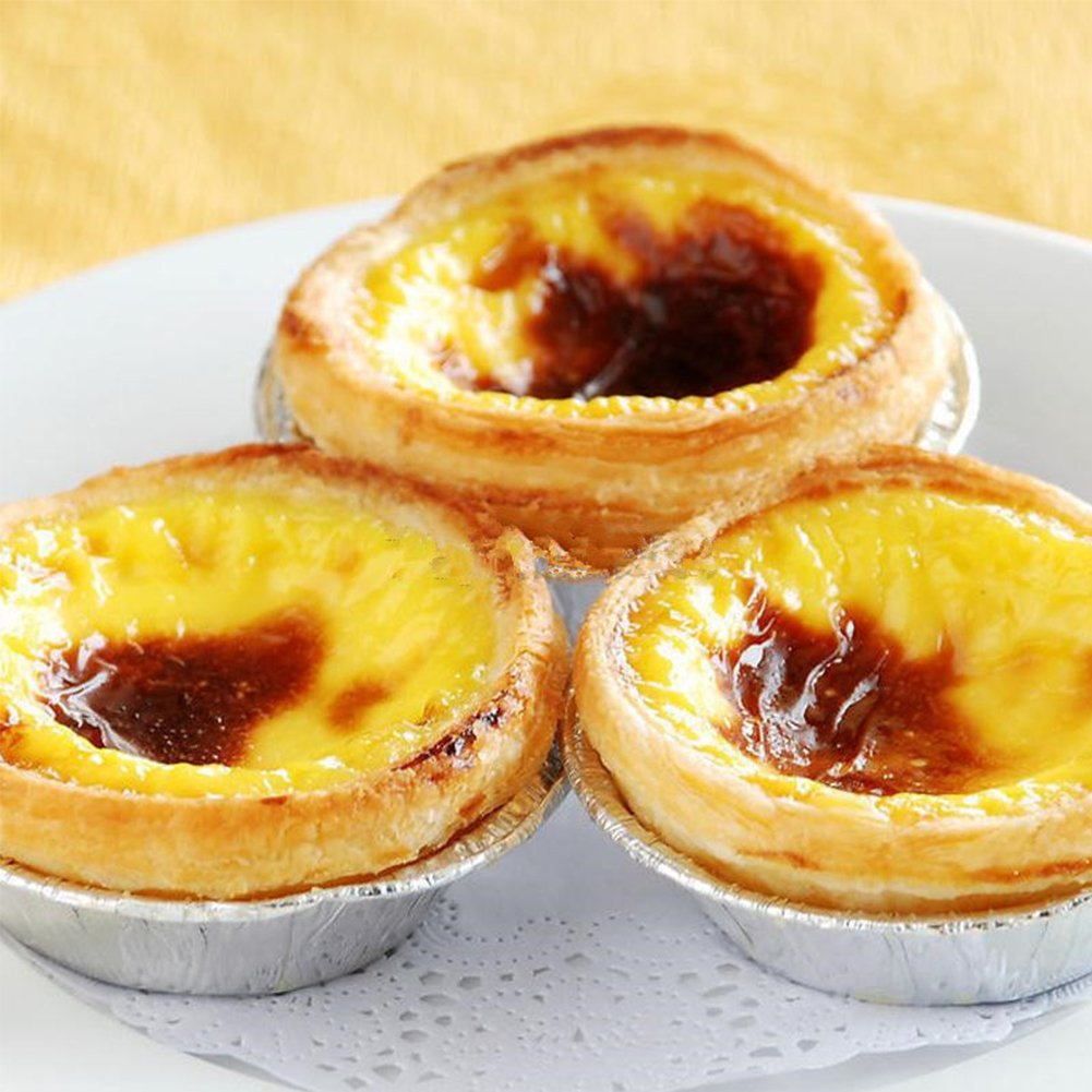 Disposable 3'' Aluminum Foil Egg Tart Tins Mold Pie Pans Baking Tools, Pack of 250 by Tong Yue (Image #4)