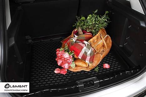 Oberer Boden Passform Element EXP.ELEMENT5154B13 Passgenaue Premium Antirutsch Laderaumwanne Kofferraumwanne VW Tiguan MK2 2017 Schwarz