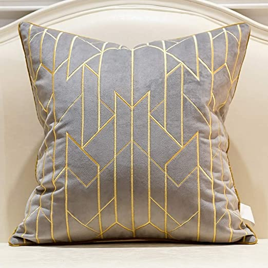 Amazon.com: Avigers 18 x 18 Inches Gray Gold Striped Plaid
