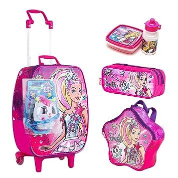 bd87fe821 Kit Mochila Infantil Bau Barbie Aventura Sestini Lancheira Estojo ...