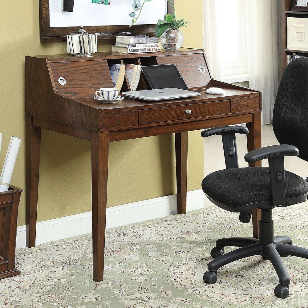 1PerfectChoice Veda Secretary Computer Writing Desk Storage Hutch Drawer Keyboard Tray Cherry