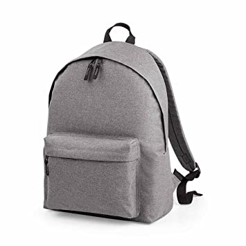 BagBase Unisex s BG126GMAR Two-Tone Fashion Backpack Grey Marl Bg126 ... 7c98cf74955cb