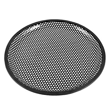 sourcingmap/® 10 Dia Metal Mesh Round Car Woofer Cover Speaker Grill Black 2 Pcs