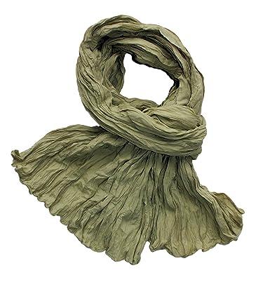 Chèche foulard en voile de coton froissé uni mastic clair  Amazon.fr ... 666f8a8d7a0