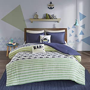 Urban Habitat Kids Finn Comforter Set, Green/Navy