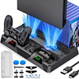 PS4 Stand, PS4 Cooling Stand for PS4/ PS4 Slim/ PS4 Pro Console, PS4 Cooler with Playstation 4 Controller Charger, Playstatio