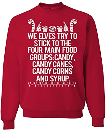 Amazon.com: Christmas Sweater- Movie Quotes- Candy Canes- Red- Large ...