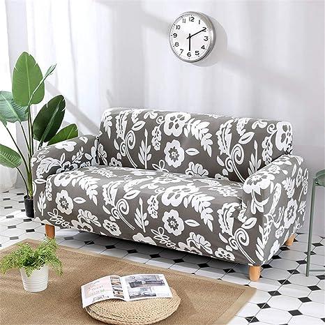 Amazon.com: MODENSFCVER Green Leaf Sofa Cover Cotton Set ...