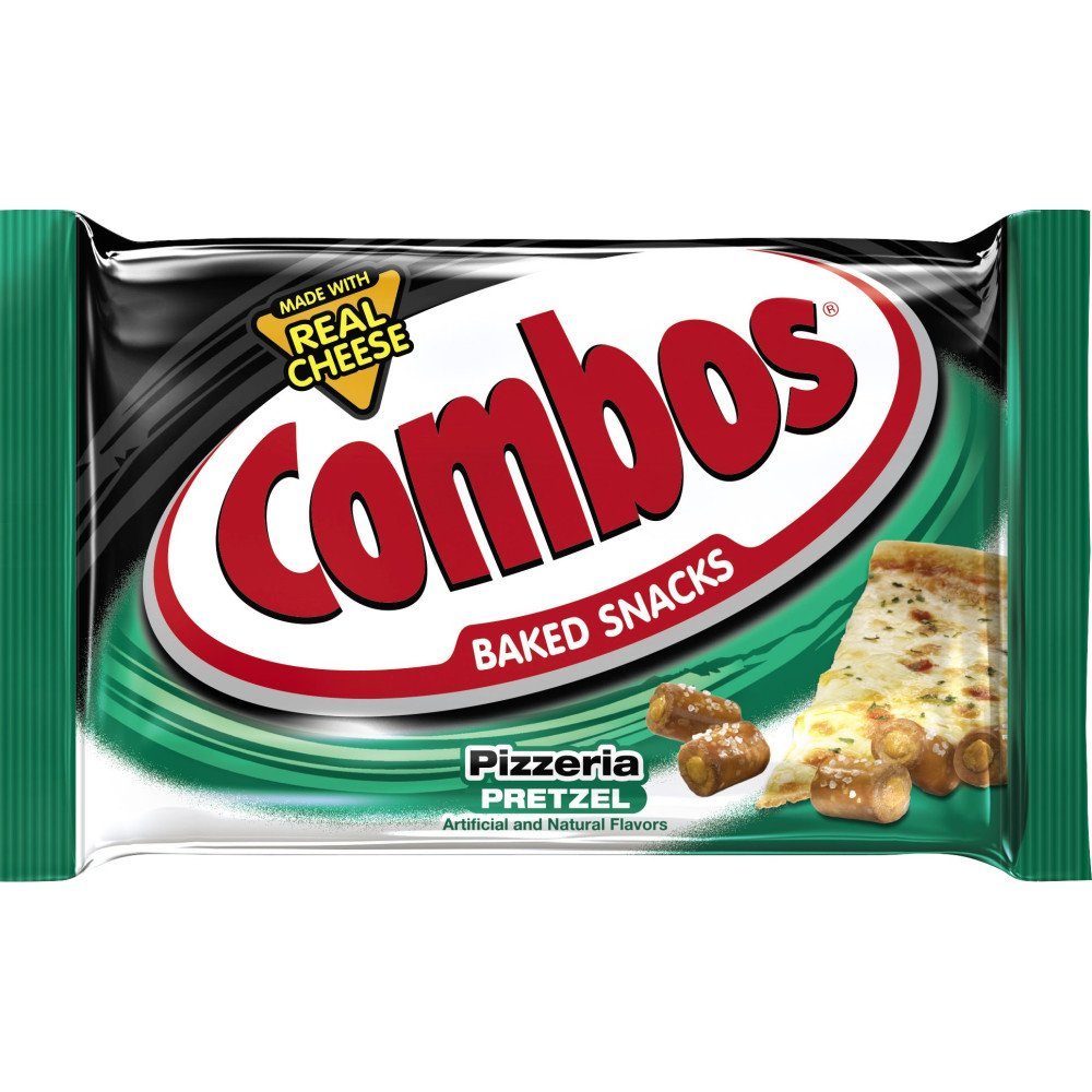 COMBOS Pizzeria Pretzel Baked Snacks, 36 Count (Pack of 2 x 18 count)