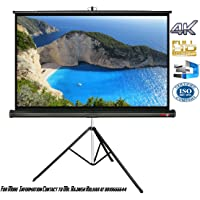 Elcor Tripod Projector screens 84 Inch-Diagonal,4ft.height x 6ft.width In 4:03 Aspect Ratio Support with HD,3D & 4K Technology
