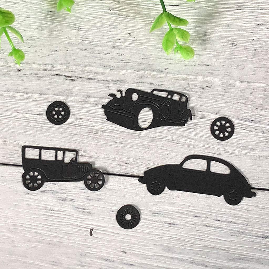 Yajiun Stanzschablonen Auto,Stanzschablonen Set,Kohlenstoffstahl