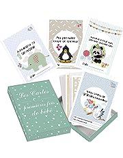 Passez la souris sur l'image pour zoomer Cartes premières fois de bébé et coffret souvenir (français) – 50 milestone cartes photos unisexe - futures mamans et par âge – Idéal pour une
