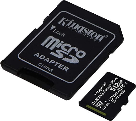 80MBs Works with Kingston Professional Kingston 512GB for Canon PowerShot S110 Black MicroSDXC Card Custom Verified by SanFlash.
