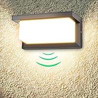 LEDMO 18W LED Aplique de Pared Exterior Con Detector de Movimiento, Aplique Pared…