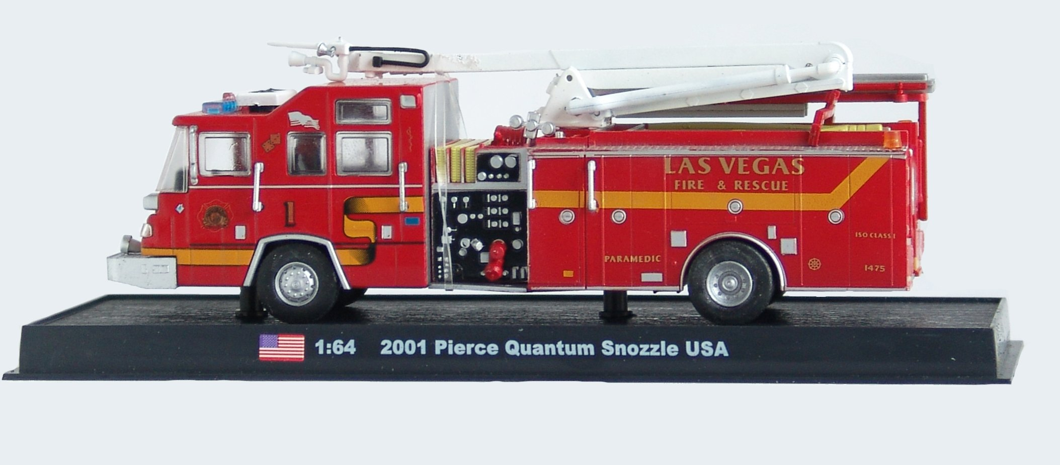 Pierce Quantum Snozzle Fire Truck Diecast 1:64 Model (Amercom GB-19)