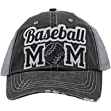 Baseball Mom Dad Sports Glittering Trucker Style Cap Hat | Rocks any Outfit |