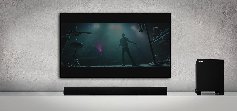 Incluye Soporte de Pared Negro 145/W Edifier B7/Cine Sonido TV de Barra de Sonido con Bluetooth y Subwoofer inal/ámbrico