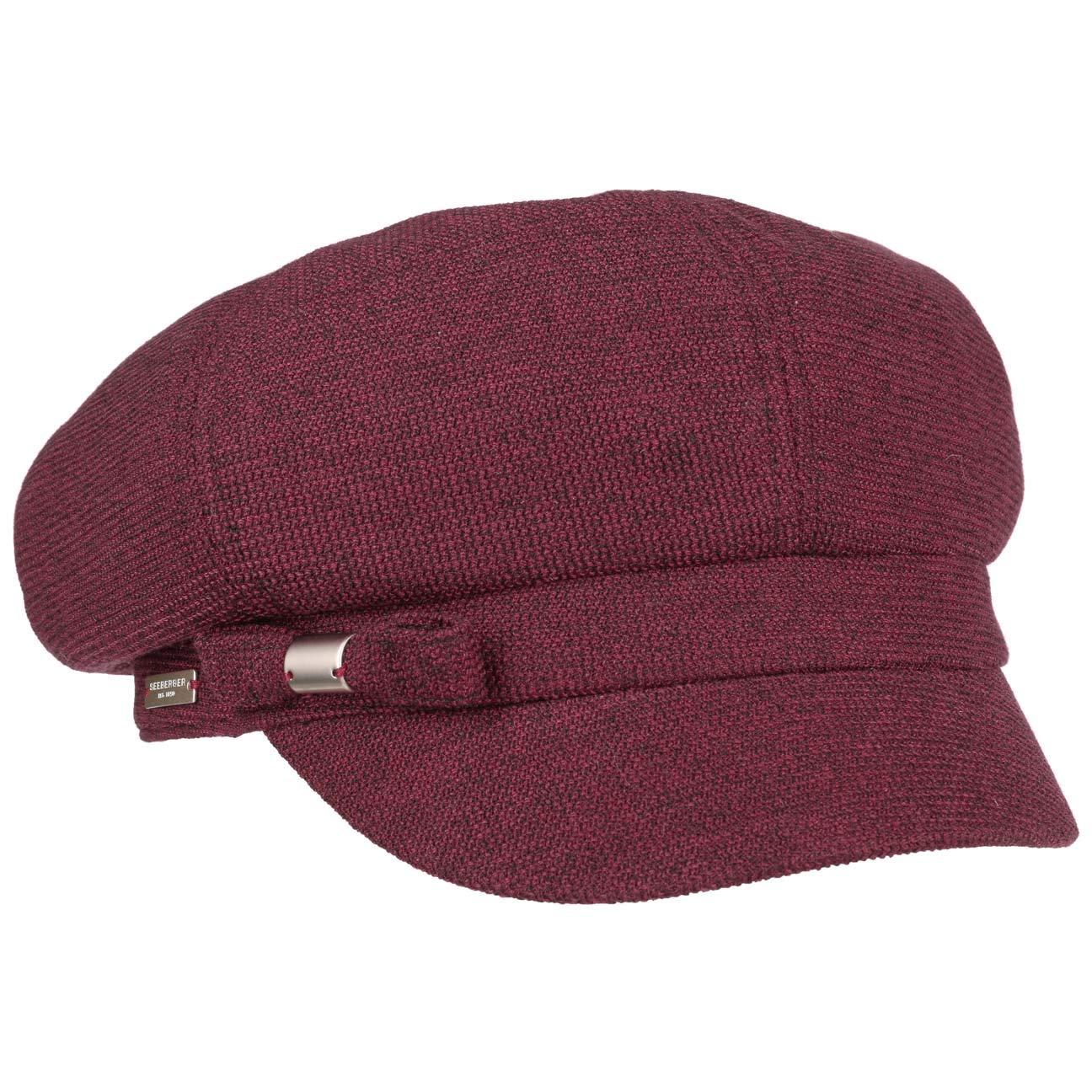 Seeberger Mella Ballonm/ütze Schirmm/ütze Schildm/ütze Baker-Boy-Hat Newsboy-M/ütze Damencap Wollcap Mit Schirm